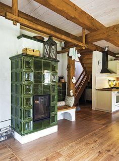 Simply Home, You Are Home, Timber Cabin, Rustic Home Design, Kitchen Stove, Rocket Stoves, Fireplace Remodel, Building A House, House Plans