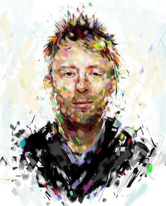 Thom Yorke by Natmir on DeviantArt Colin Greenwood, Thom Yorke, Radiohead, Street Art, Deviantart, Fictional Characters, Movie, Band, Google