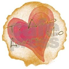 "Fun Italian expression ""Ti Amo, Amore Mio"" against a fun heat graphic available on many styles of t-shirts and gifts."
