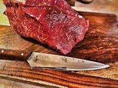 I finally have a #rootblade #gyuto #slicer in my #HomeKitchen #cheflife #cheftools #customknife #sexy #sleek #chefknife #meat #beef #jerky #handmadeknives