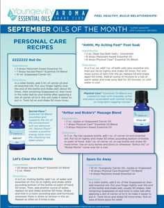 Sept Aroma Share Club Essential Oils Collection #67955  #youngevity…