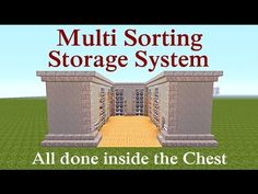 "Minecraft Tutorial : Multi Sorting Storage System ""Any Size"" Plus MORE"