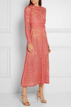 ELIE SAAB Cotton-blend lace dress