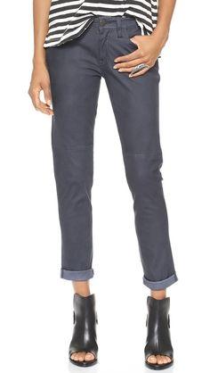 Current/Elliott The Fling Vintage Leather Pants