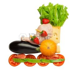 Healthy food in a healthy body  fitness as a life-style  A cute rollerblade, comrised of different edible and healthy stuff