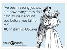 christian pick up lines.Bible humor got to love it haha Pick Up Lines Cheesy, Pick Up Lines Funny, Bad Pick Up Lines, Funny Christian Memes, Christian Humor, Christian Ecards, Christian Quotes, Funny Pick, The Funny