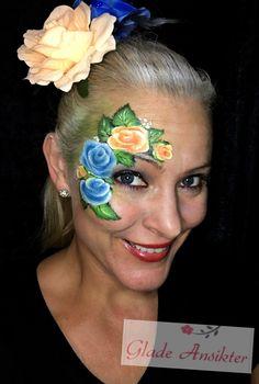 Roses facepaint roser ansiktsmaling