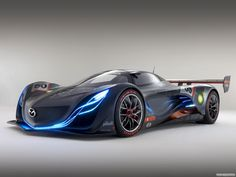 """Dubbed the """"sound of the wind"""" by designers, the Mazda Furai with it's dramatic lines and complex curves sets the tone for what future-present cars should be. Description from cartheworld.blogspot.com. I searched for this on bing.com/images"""