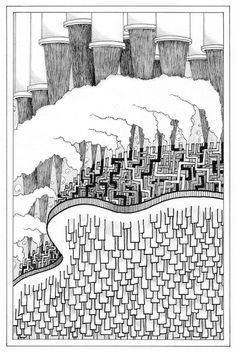 Desenho do Dia #41 - Poluído - Soraia Casal