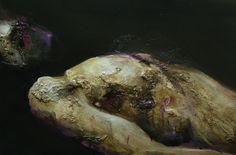 Antoine Correia, Christ mort étude, huile sur toile, 54 x 81 cm, 2014
