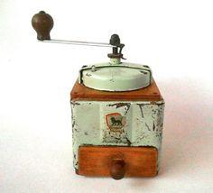 Coffee Grinder Peugeot Freres Mint Green 1950s Made by Lunartics, €60.00 http://instagram.com/lunartics_