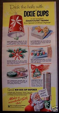 Dixie Cups Christmas Santa Claus (1958)
