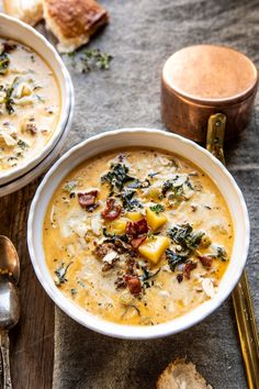 - Half Baked Harvest - - This super simple Instant Pot Pesto Zuppa Toscana is the perfect cold-weather dinner.great for nights when I'm craving Italian, but want something warming too. Cooker Recipes, Soup Recipes, Dinner Recipes, Healthy Recipes, Chili Recipes, Fall Recipes, Recipies, Instant Pot, Crockpot
