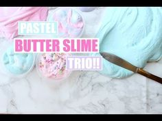 DIY BUTTER SLIME TWO WAYS! - Super easy slime recipe - YouTube
