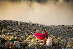 Only a few miles away from the Maldivian capital of Malé, Thilafushi is an artificial island and acts as one of the country's main landfills. About 300 to 400 tons of trash are dumped on the island every day.