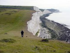 The Seven Sisters - a favourite but strenuous walk - part of the South Downs Way in the National Park of the same name.