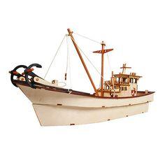 Wooden Model Ship Kits Junior Series- Scale models Fishing Boat