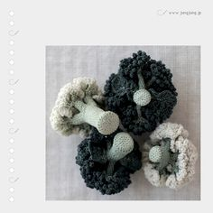 Crocheted vegies - OMG - how real does that cauliflower look!!!!!!!!!!