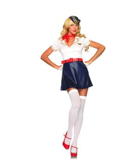 Retro Flight Attendant Costume | LA-83665 | £43.70
