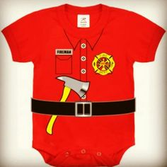 Fireman one piece for 3 months to 3T.