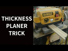 Thickness planers don't just make wood smooth, they also make multiple parts very consistent. Watch and see how this applies to the job of making batches of . Diy Ebooks, Woodworking Planer, Winter Hacks, How To Apply, Simple