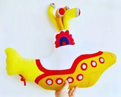 Yellow Submarine Mobile Pink Cheeks, Yellow Submarine, Felt Ball, The Beatles, Whimsical, Dinosaur Stuffed Animal, Kids Room, Trending Outfits, Crib