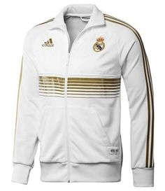 Real Madrid jacket--i'm wearing this right now :D Real Madrid Football Club, Real Madrid Soccer, Ronaldo Real Madrid, Real Madrid Jacket, Real Madrid Shirt, Sports Jersey Design, Adidas Football, Sport Outfits, Soccer Jerseys