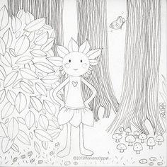 ©2015MarianaOppel- @marianaoppel New project: #talesfromtheforest #creatures #coloringbook. #treegirl from my #talesfromtheforest and #thelovefruit #stories . #rainforest #world. #greenman #treegirl #creatures #naturespirits #nature #naturaleza #natureza #bosquetropical....