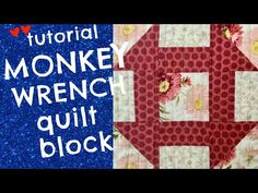 Alex Anderson's teaches the Monkey Wrench Quilt Block. The Quilt Show, Quilt Blocks, Monkey, The Creator, Teaching, Quilts, Make It Yourself, Fun, Crafts