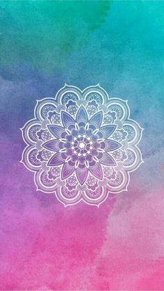 I love this photo because it's mandala and the backround is pastel.