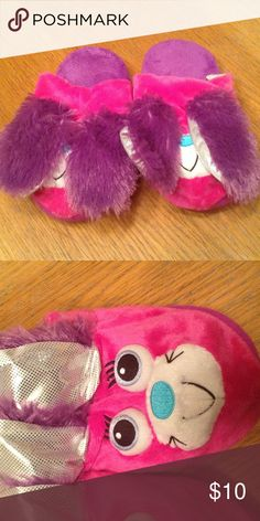 1e82c567952 Stompeez Bunny Slippers Purple Pink Previously owned slippers in perfect  condition.