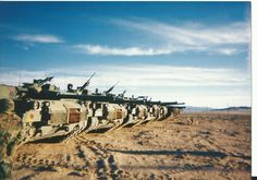 US California National Guard M1IP Abrams rear row.