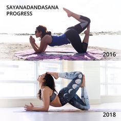 #Repost @asanavanessa ・・・ Sayanadadasana Transformation Tuesday! When I look at this transformation, I remember that first day vividly.…