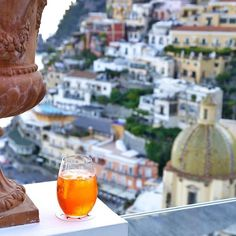 #Spritz with a view over #Positano bay #AmalfiCoast Image: #regram from W&P Design