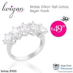 """Beştaş Zirkon Taşlı Gümüş Bayan Yüzük - 49,00 TL  ► Ayrıntılı Bilgi ve Sipariş İçin : http://luviyan.com/bestas-zirkon-tasli-gumus-bayan-yuzuk-pmu1679  ► İletişim : (0212) 536 25 25 - Mail : bilgi@luviyan.com  ★ Tüm Ürünlerde """"Ücretsiz Kargo"""" ✔  #gümüş #yüzük #bayan #kadın #bayanyüzük #kadınyüzük #gümüşyüzük #tektaş #beştaş #5taş #pırlanta #taşlıyüzük #rodyumkaplama #özeltasarım #925ayargümüş #luviyan #takı"""