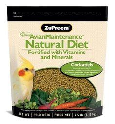 ZUPREEM 230353 Natural Medium Bird Food, 2.5-Pound       #25Pound, #230353, #Bird, #Food, #Medium, #Natural, #Zupreem