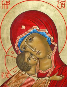 ND de Vladimir - Theotokos (French) Religious Icons, Religious Art, Architecture Religieuse, Jesus Painting, Sainte Marie, Byzantine Icons, Holy Mary, Blessed Virgin Mary, Adam And Eve