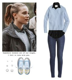 Betty Cooper - Riverdale by shadyannon on Polyvore featuring polyvore moda style J.Crew Abercrombie & Fitch Converse Love Quotes Scarves fashion clothing