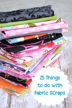 25 Things to Do with Fabric Scraps from CrazyLittleProjects.com #fabric scraps Creative Ideas Quirky Ideas