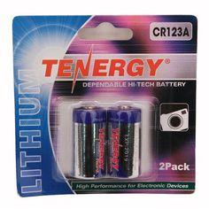 Tenergy - CR123 2-Pack (Retail), Chrome
