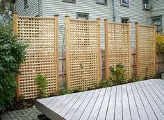 Privacy Fence Designs for Decks . Privacy Fence Designs for Decks . Stunning 70 Easy and Cheap Privacy Fence Design Ideas S Cheap Privacy Fence, Privacy Fence Designs, Privacy Landscaping, Backyard Privacy, Backyard Fences, Landscaping Ideas, Lattice Privacy Fence, Back Yard Privacy Ideas, Fence Garden