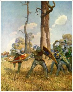 """They fought with him on foot more than three hours, both before him and behind him"" N.C. Wyeth"