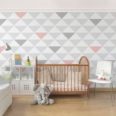 YK65 Dreiecke Grau Weiß Rosa   Fototapete Quadrat | Pastell Kombi |  Pinterest | Room