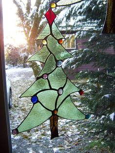 stained glass christmas tree - local artist :D