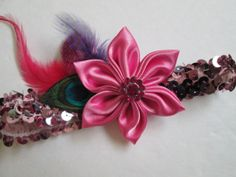 Wedding Garter Prom Garter Rose Pink Sequin by NakedOrchidGarters, $24.00