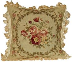 Aubusson Floral Pillow