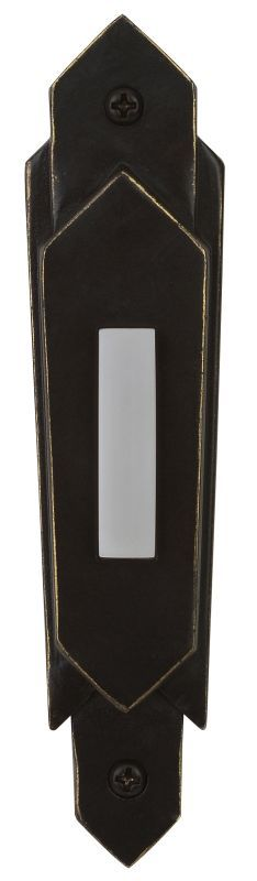 Craftmade PB3032 Surface Mount Contemporary Pushbutton from the Designer Surface Antique Bronze Door Chimes Pushbuttons Pushbuttons