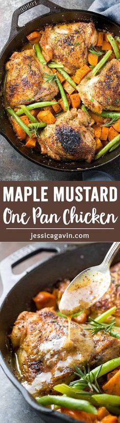 One Pan Chicken with Maple Mustard Sauce - An easy one pan chicken ...