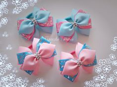 Одноклассники Ribbon Hair Clips, Ribbon Hair Bows, Kids Hair Bows, Girls Bows, Kanzashi Tutorial, Baby Hair Bands, Crochet Bows, Making Hair Bows, Diy Bow