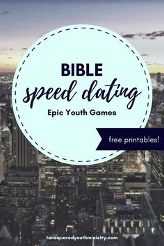 Bible Speed Dating is a super fun way to increase your teens' knowledge of different Bible characters! Tansquared Youth Ministry